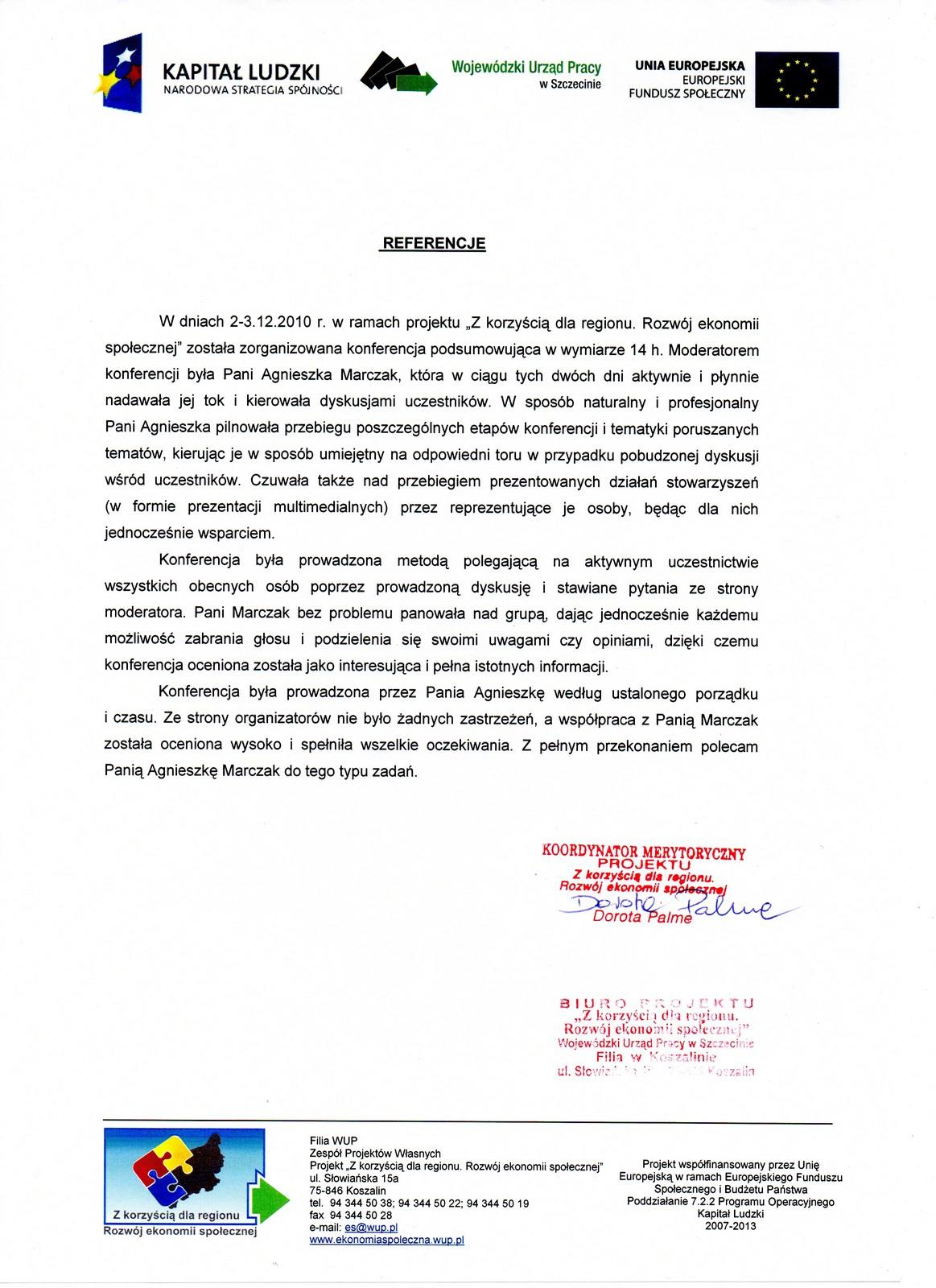 Referencje WUP Koszalin